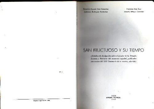 SAN FRUCTUOSO Y SU TIEMPO.