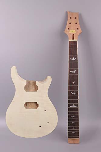 yinfente eléctrica guitarra cuello para guitarra eléctrica cuerpo 22Fret 25cm madera de caoba madera de arce pájaro Inlay PRS guitarra...