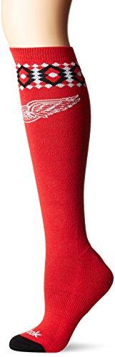 NHL Damen-SP17Diamant Knie Hohe Socken, rot, Einheitsgröße -