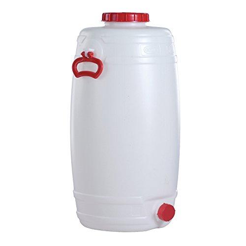 Kunststoff-Fass rund aus PE 125 L inkl. Auslaufhahn NW 15
