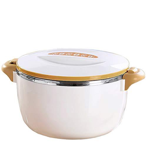 TRI Warmhalte-Schüssel, Thermoschüssel mit Deckel, Thermotopf, Isolierschüssel, Warme Speisen, Edelstahl, Kunststoff | 2 Liter