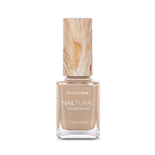 Esmalte uñas, color beige brillante
