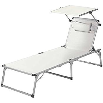 Amazon.de: FLORABEST® Aluminium-Sonnenliege, weiß (Weiß)