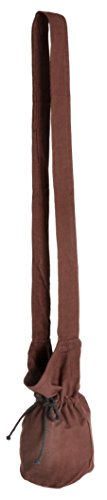 HEMAD Bolso hombro medieval - algodón – S Marrón