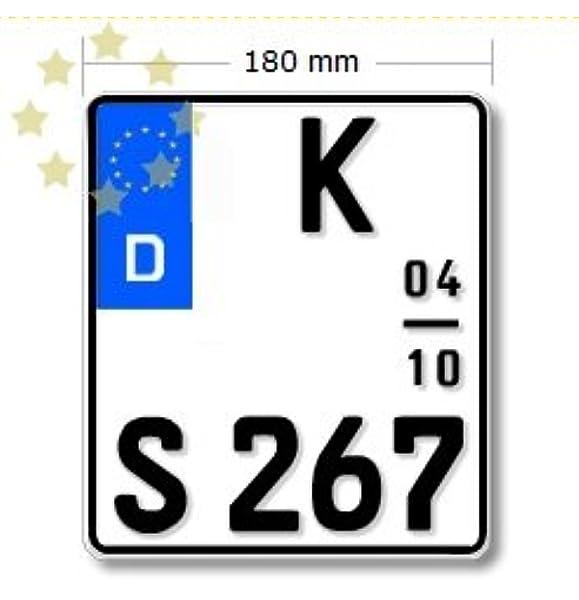 Saisonkennzeichen Für Motorrad 180x200mm Deutschland Auto