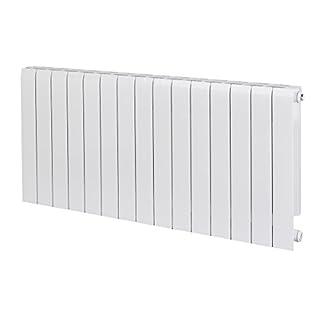 Alessia ALH 580-1200 Designer Aluminium Horizontal Radiator - White