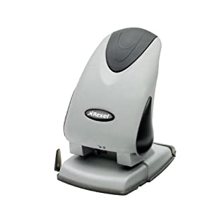 Rexel Precision P265 2 Hole Punch Black/Silver 65 Sheet Capacity with Plastic Paper Guide