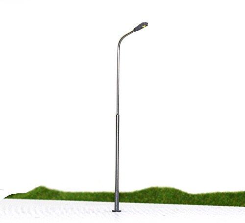 Evemodel LQS08 10 Stk. Peitschenlampen LED 100mm H0 / 00 Straßenlampen Flexible Höhe Neu
