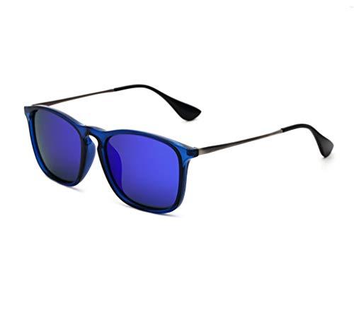 KISlink Sonnenbrille Korean Polaroid Sonnenbrille Männer Und Frauen Gezeiten Sonnenbrille Fahren Retro Fashion Drivers Square Fahren Sonnenbrille Brillen (Farbe: 4)