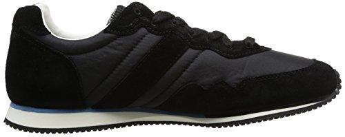 Le Coq Sportif Milos Vintage Nylon, Unisex - Erwachsene Sneaker Schwarz - Schwarz (Black)