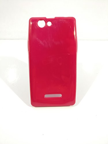 iCandy™ Colorfull Thin Soft TPU Back Cover For Xolo A500S - Raspberry  available at amazon for Rs.99