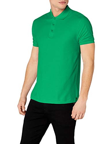 Fruit of the Loom Herren Poloshirt, Grün (Kelly Green), XXX-Large -