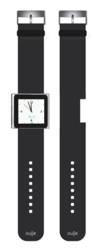 Preisvergleich Produktbild Aiino Nano Watch Watchband Armband für Apple iPod Nano 6 - Schwarz