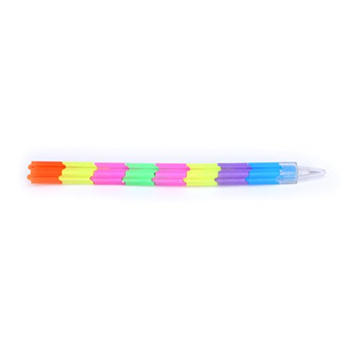 Rryilong Creative Rainbow Multifunktionsstift Building Block Schrift Stacker Swap Stift