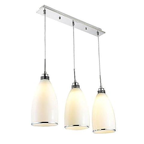 Modern Simple 3 Head White Chandeliers, Stylish LED Ceiling Light for Living Room, Bedroom, Restaurant