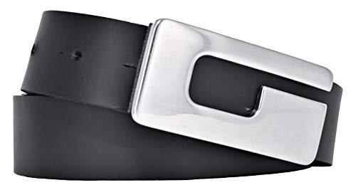 Bernd Götz Damen Leder Gürtel 30 mm schwarz Rindleder Koppelgürtel (85 cm) - Damen Frauen Leder Schwarz