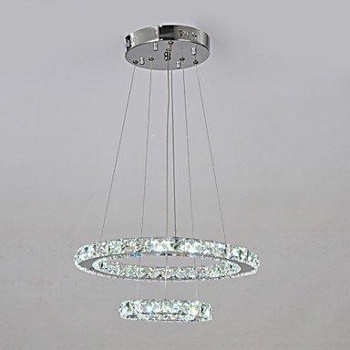 Illuminazione jiaily K9 Quartetto di cristallo perle con doppio cerchio
