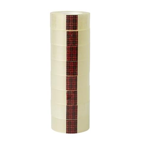 Scotch - Rouleau de ruban adhésif - Transparent - Facile à déchirer - 19 mm x 33 m - Tour de 8 rouleaux (Import Royaume Uni)
