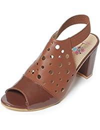 Meriggiare Women Synthetic Brown Heels