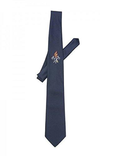 Herren-Krawatte 'Feuerwehr' mit Emblem blau