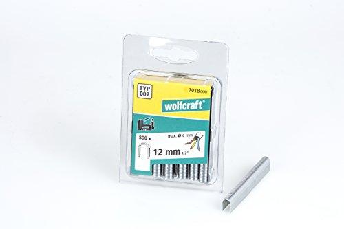 Wolfcraft 7018000 Pack de 800 Agrafes U type 7