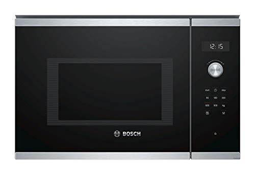 Bosch Serie 6 BFL554MS0 Intégré - Micro-ondes (Intégré, Micro-ondes uniquement, 25 L, 900 W, Rotatif, Tactil, Noir, Acier inoxydable)