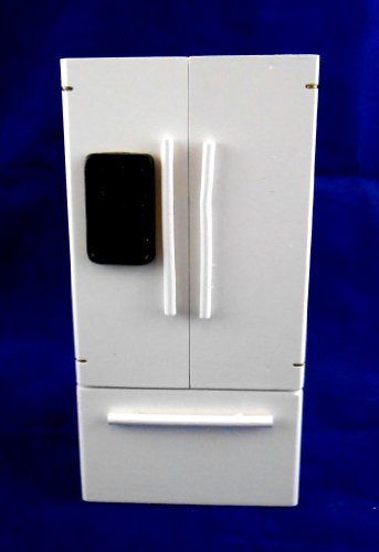 Frigorifero con Freezer Bianco in Legno - Arredamento in Miniatura per Casa delle Bambole Scala 1:12