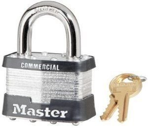 Master Lock 5Dlfcom 4 Pin Tumbler Safety Padlock Keyed Diff. W/1.5