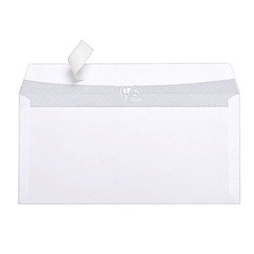 Paquet 50 Enveloppes Adhéclair 110x220 (DL) Blanc 80gr. Clairefontaine Bande Adhesive détachable