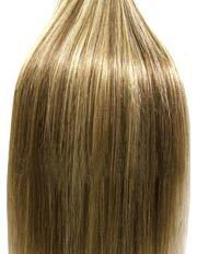 supermodel - 45,5 cm - BRUN / BLOND MÉLANGE n°12 / 613 Extensions cheveux Remy Hair 100% naturel - chevelure complète à tisser/coller 100g