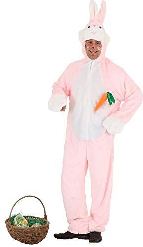 Herren Damen Kostüm Hase mit Möhre Plüsch-Overall mit Kapuze Tier-Kostüm Karneval Fasching Halloween Ostern JGA warm, Variante:Unisex 175-190 cm (Plüsch Funny Bunny Kostüm)