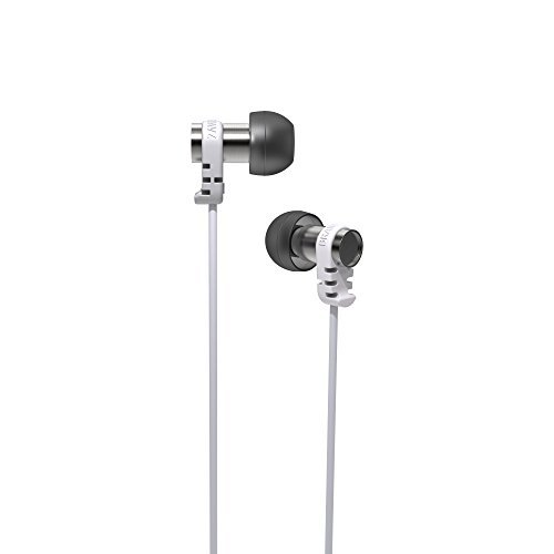 Brainwavz Omega In Ear Earbuds Noise Isolating Earphones Remote & Mic Headset Stereo Headphones Apple iPhone & Android (Black)