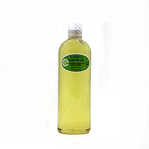 Organic Pure Carrier Oils Cold Pressed 16 Oz/1 Pint (Castor