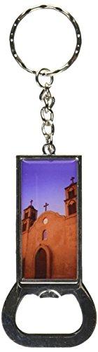 Mission-kette (Grafiken und mehr Ring Bottlecap Öffner Schlüssel Kette, Old San Miguel Mission–Adobe Kirche New Mexico (KK2038))