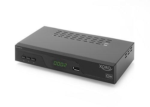 Xoro HRK 8760 CI+ HD Receiver für digitales Kabelfernsehen (HDTV, DVB-C Tuner, HDMI, PVR-Ready + Timeshift, CI+, S/PDIF, USB 2.0) schwarz
