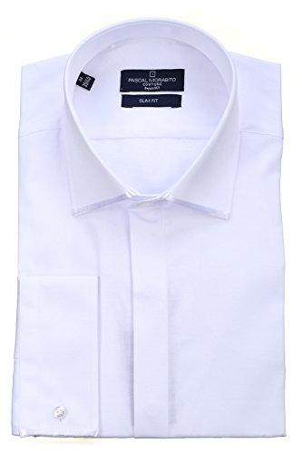Pascal Morabito - Chemise habillée Mrt054 Ceremo Blanc Blanc