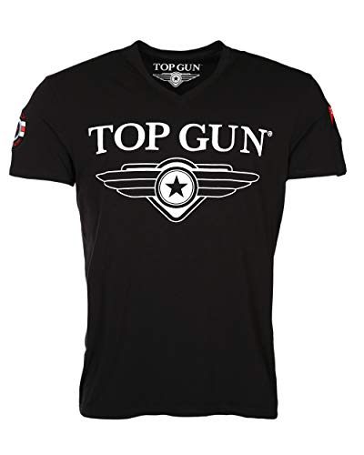 Top Gun Hyper Black T-Shirts (M) - Air Force White T-shirt