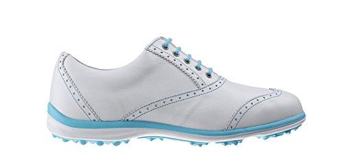 Foot-joy - Casual Collection, Scarpe da golf Donna, Bianco (Weiß (White/Aqua)), 38.5