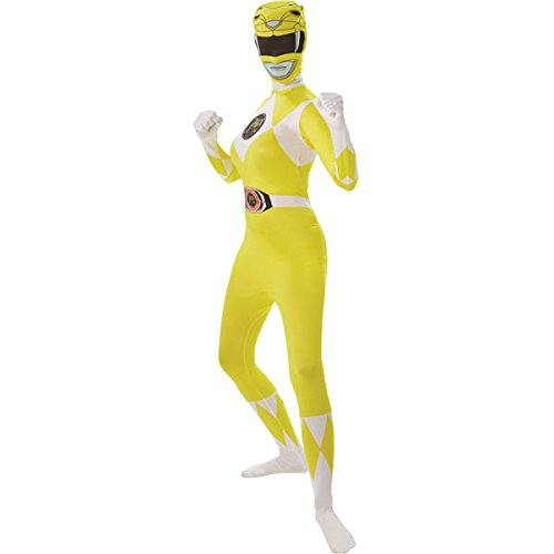 Mighty Morphin Power Rangers Yellow Ranger - Adult 2nd Skin Costume Lady: SMALL