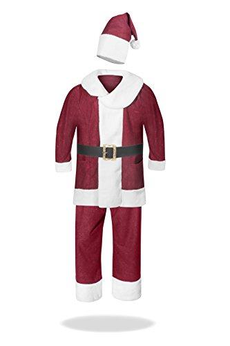 skostüm komplett Santa Weihnachtsmann Nikolaus Anzug Verkleidung Kostüm Kleidung Kostümierung Weihnachten (Komplette Santa Anzug Für Erwachsene Kostüme)