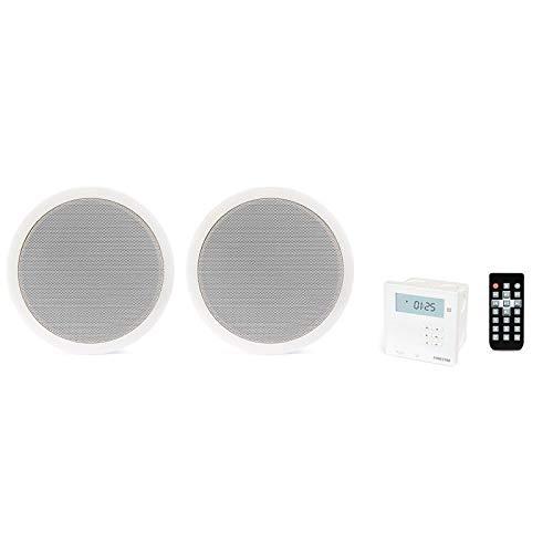Fonestar KS-06 Amplificador de Pared y Pareja de Altavoces de Techo, Receptor...