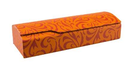 Edison & King Brillenetui aus Kunstleder mit Prägedruck und schwarzem Mikrofasertuch - in verschiedenen Farben (orange)