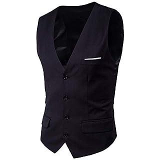 Plus Size Fashion Slim Fit Essential Suit Mens Wedding Vest Vest New Formal Patchwork Mens Dress Anz Ge Waistcoat (Color : Schwarz, Size : XL)