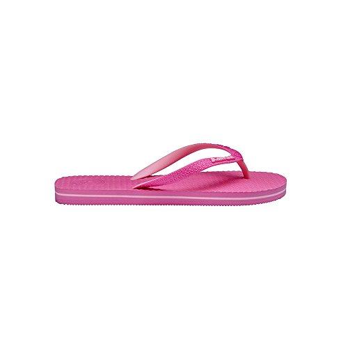 Buddha beachwear Tongs Pour Femme Bleu Himalayan Blue Hibiscus Pink