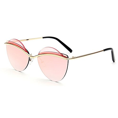 Aihifly Sonnenschutz Persönlichkeit Vintage Cat Eyes UV Schutz Sonnenbrille für Frauen im freien Fahren Reisen (Farbe : Rosa)