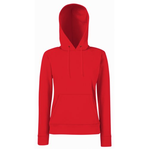 Fruit Of The Loom - Felpa con Cappuccio - Donna (XS) (Rosso)