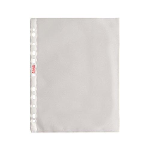 Esselte Buste a Perforazione Copy Safe De Luxe, Trasparente, Formato 22 x 30 cm,Porta Documenti, In PP Antiriflesso, Confezione da 100 Buste, 395697600