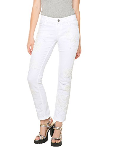 Desigual DENIM_BLONDIE WHITE-Blu Donna    Bianco (Blanco) W26