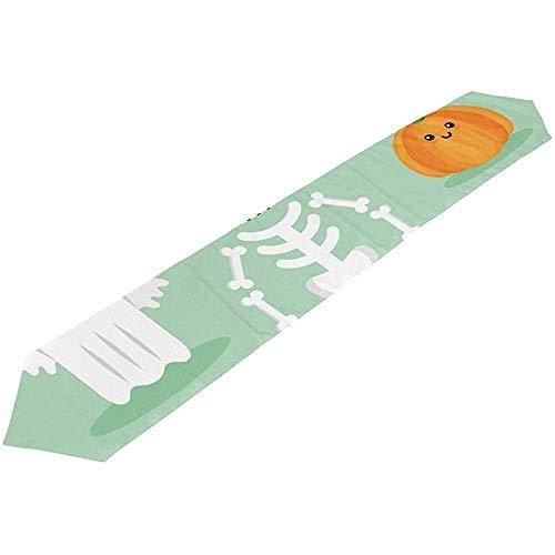 Nette Halloween Kuchen Designs - SESILY Nette Halloween-Element-Tischläufer-dekorative Küchen-Tischset-Rechteck-Tischläufer für