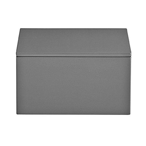 mojoo dänemark aufbewahrungsbox Lack mit Deckel - Schmuckkasten - Schreibtischorganisation - quadratisch - hoch - 19x19x10,5cm - Holz - Hochglanz - Anthrazit grau -